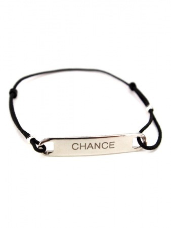 Bracelet message CHANCE