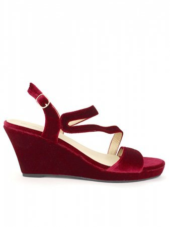 Compensée velours bordeaux CINKS MEE