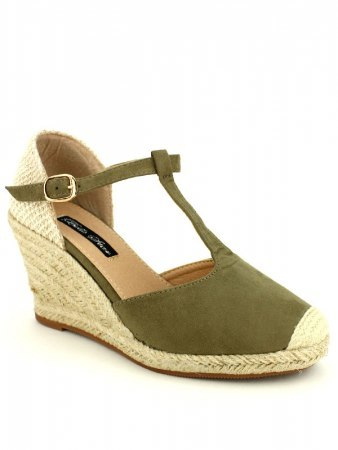 Espadrille color kaki BELLO STAR, image 02