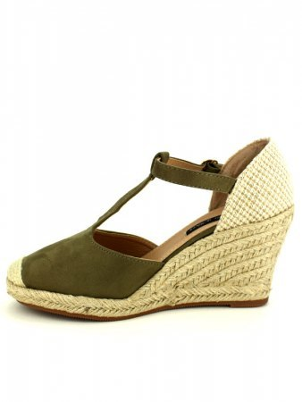 Espadrille color kaki BELLO STAR, image 03