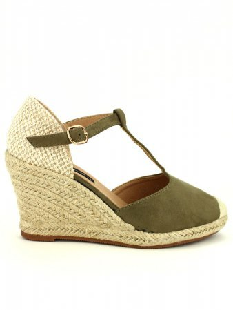 Espadrille color kaki BELLO STAR