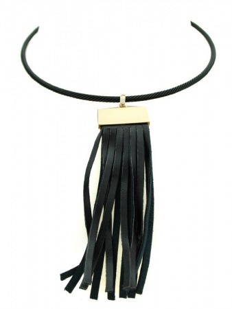 Collier corde noir ATILA Mode