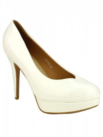 Escarpin verni Blanc CINKS LOOK, image 02