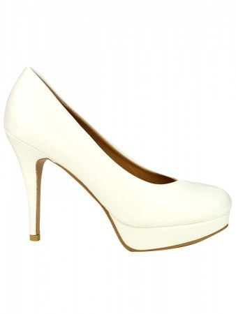 Escarpin verni Blanc CINKS LOOK