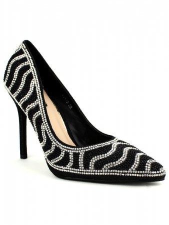 Escarpins Noirs Strass and Black STEPHAN, image 02