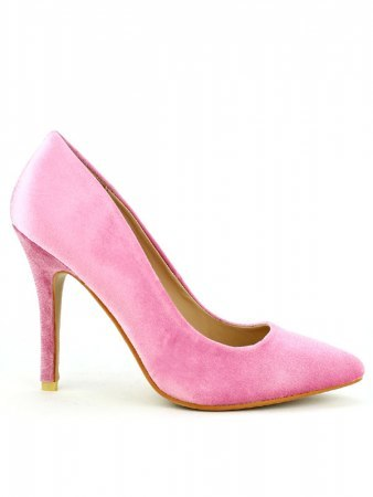 Escarpin satin rose DAYNE