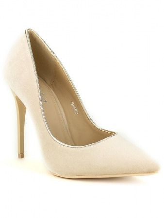 Escarpin velours Beige KILL, image 02