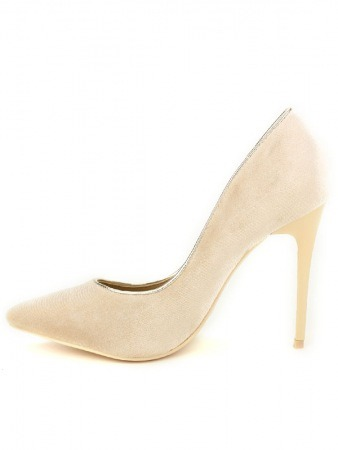 Escarpin velours Beige KILL, image 03