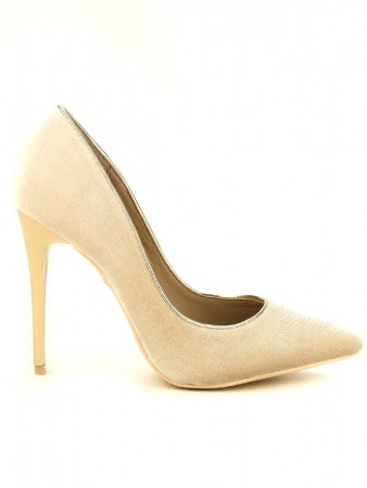 Escarpin velours Beige KILL