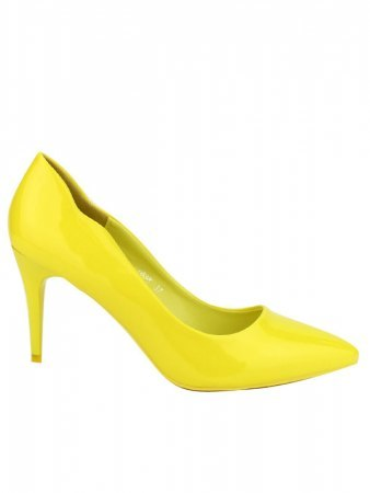 Escarpin jaune verni BELLE WOMEN