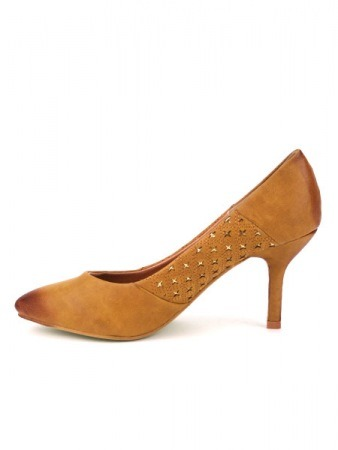 Escarpin Simili Cuir Caramel KATY Mode, image 03