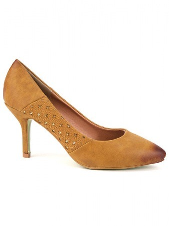 Escarpin Simili Cuir Caramel KATY Mode