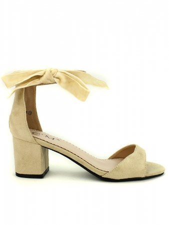 Escarpin simili beige C'M Noeud