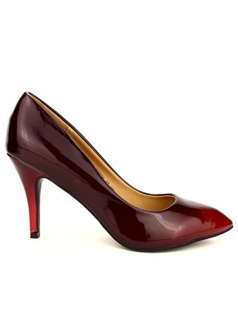 Escarpin Grande pointure Rouge Verni PIXIE