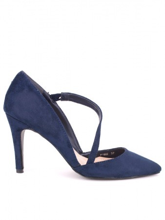 Escarpin Peau daim blue STEPHAN