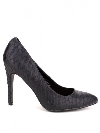 Escarpin noir Croco SENTY Mode