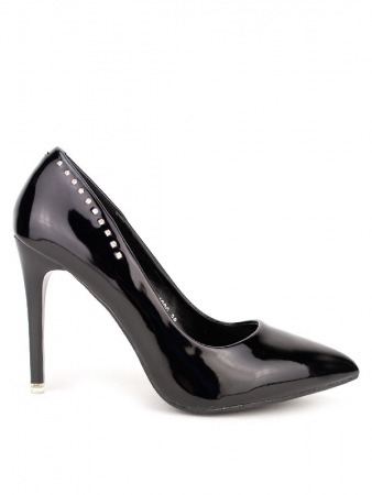 Escarpin verni Black BELLA