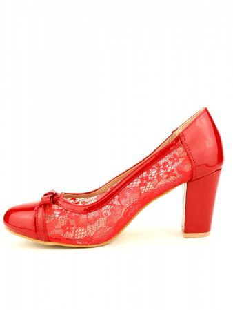 Escarpin Rouge dentelle CINKS, image 03