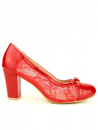 Escarpin Rouge dentelle CINKS
