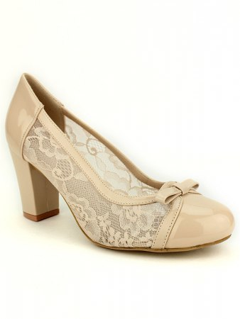 Escarpin beige dentelle CINKS, image 02