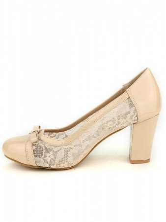 Escarpin beige dentelle CINKS, image 03
