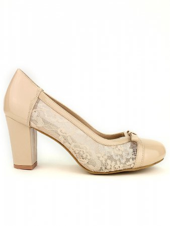 Escarpin beige dentelle CINKS