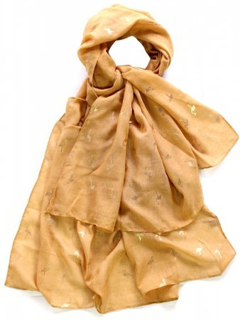 Foulard color Caramel FLAMANTS