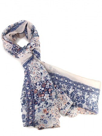 Foulard Liberty blue FASHION