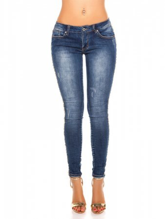 Jean Sexy skinny Jeans With Glitter doré, image 02