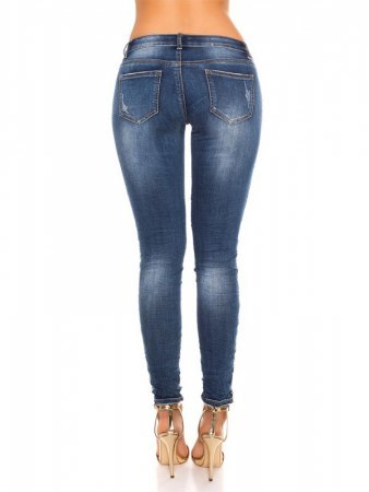 Jean Sexy skinny Jeans With Glitter doré, image 03