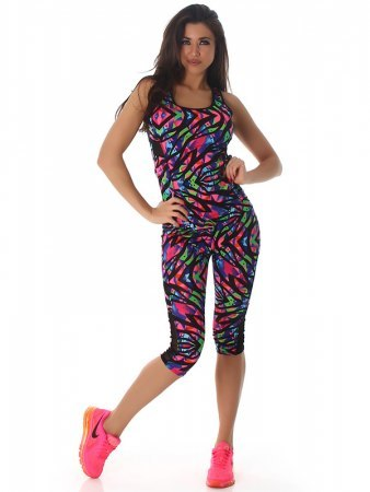 TOP & LEGGING 3/4 Multicolors Paints