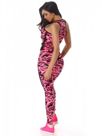 TOP & LEGGING long color camouflage Fushia, image 02
