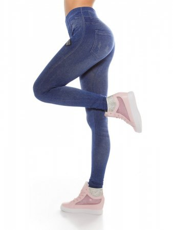 Legging Bleu écussons IN STYLE FASHION , image 03