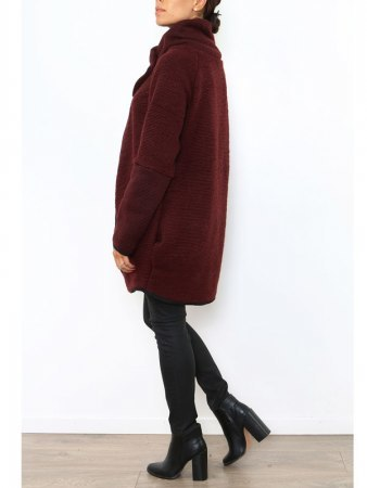 Manteau Cape Bordeaux PRETTY, image 02