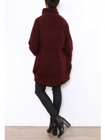Manteau Cape Bordeaux PRETTY, image 04