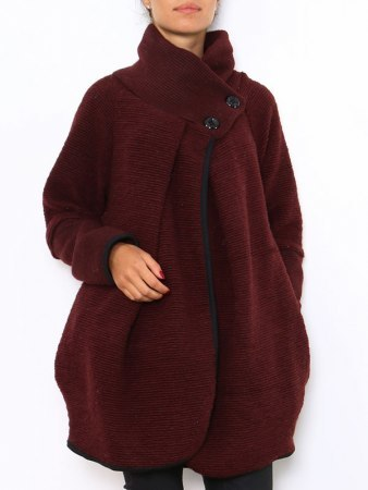 Manteau Cape Bordeaux PRETTY