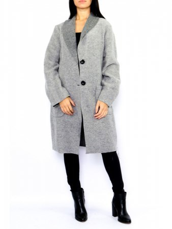 Manteau CASUAL Gris CHANA MODA