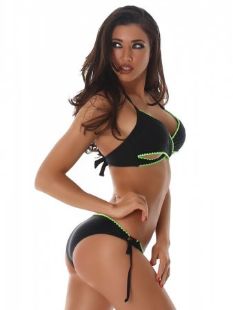 Maillots de bain Black and green LIXANO, image 02