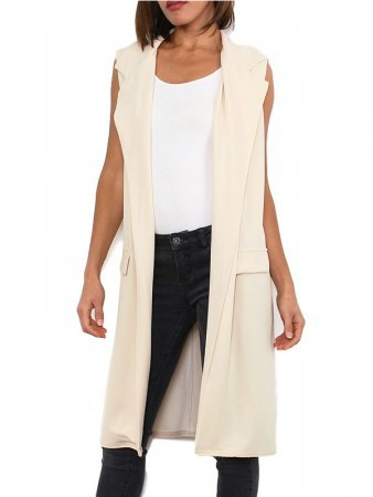 Gilet long beige MODERN FASHION