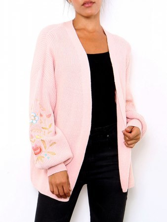 Gilet Rose poudré BRODERY