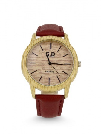 Montre bois Bordeaux GD Quartz