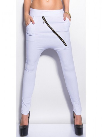 Sarouel Blanc Zip FASHIONA Mode