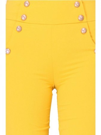 Pantalon loose color moutarde INTEMPORELLE, image 04