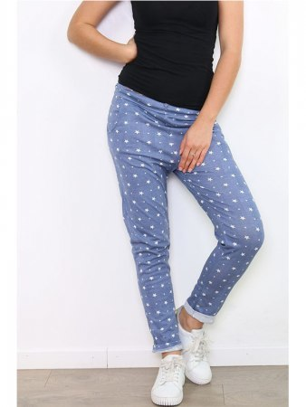 Pantalon toile blue LUCKY NANA