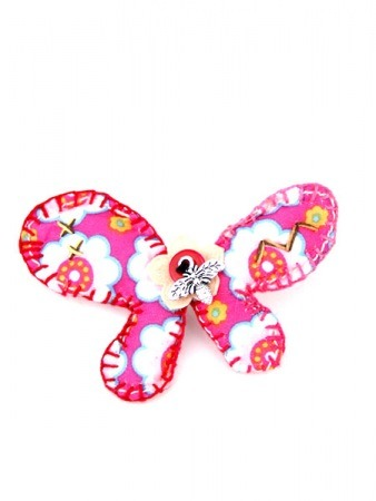 Jolie Broche Tissus GIRLY