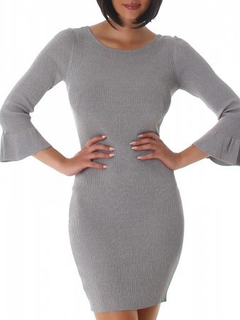Robe pull Gris SILVIA, image 03