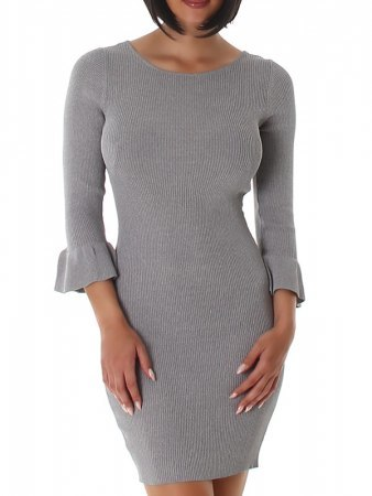 Robe pull Gris SILVIA