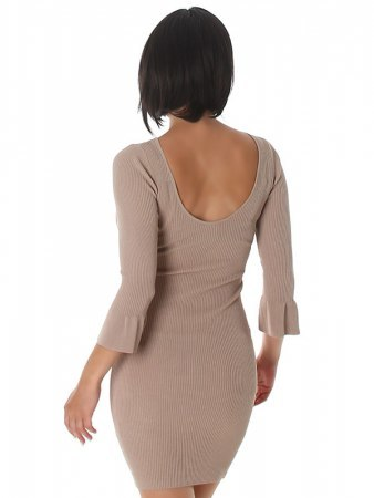 Robe pull Color Taupe SILVIA, image 03