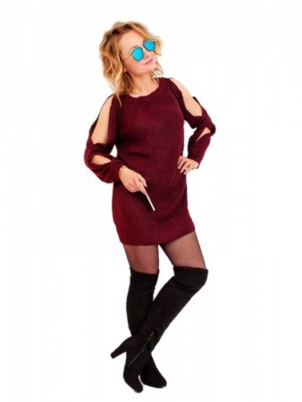 Robe Bordeaux Oversize