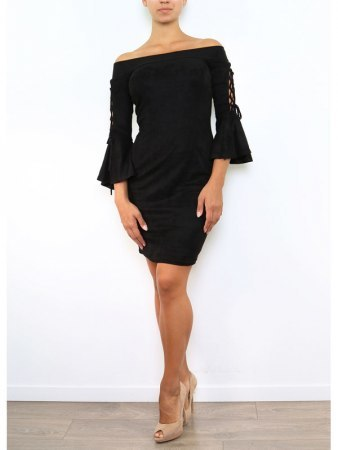 Robe Froufrou noire JUS AND CO, image 02